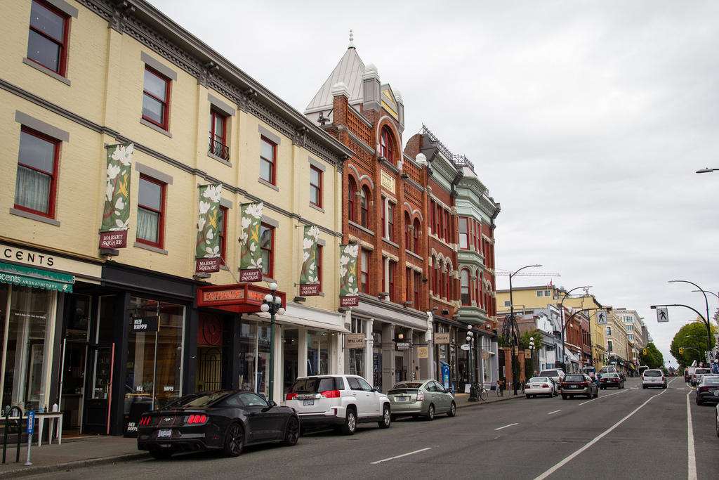 L'architecture de Victoria, Colombie Britannique.
