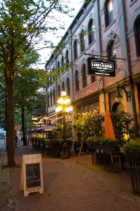 Le vieux quartier de Gastown à Vancouver.