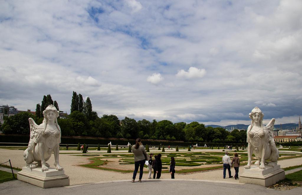 Les jardins du Belvédère de Vienne.