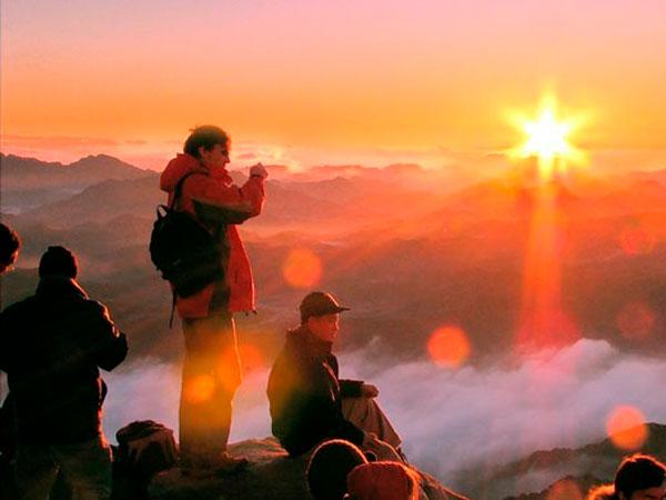 Монастырь Св.Екатерины и гора Моисея на рассвет