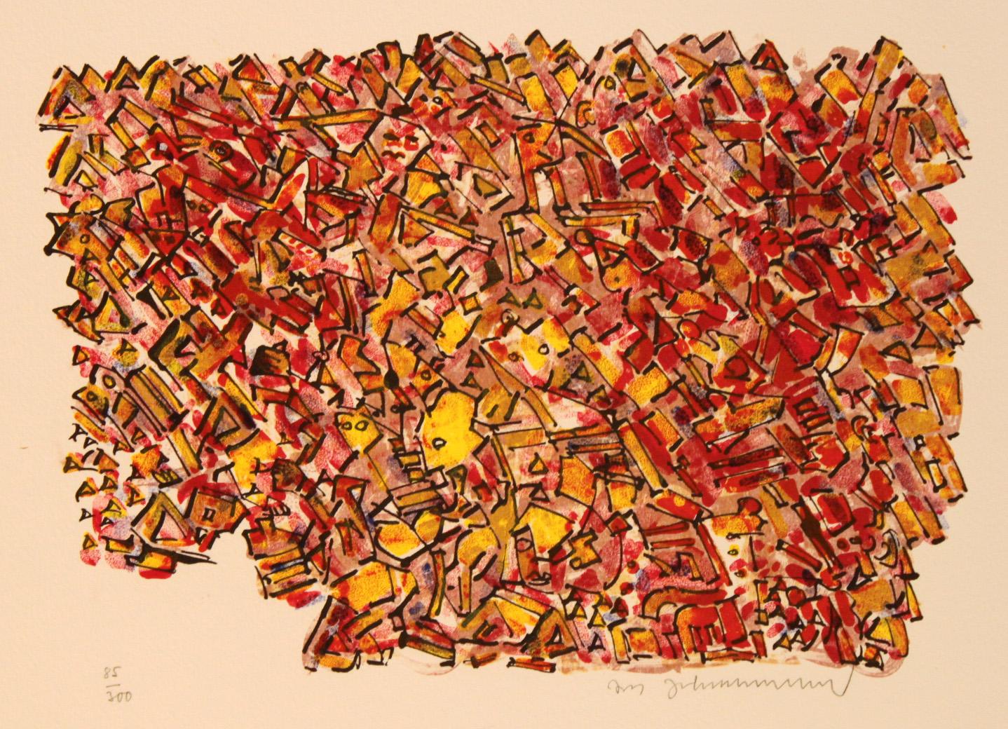 Jens Johannesen – uten tittel (abstrakt rødlige)