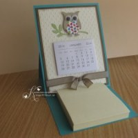 Easel Calendar & Post-it Card