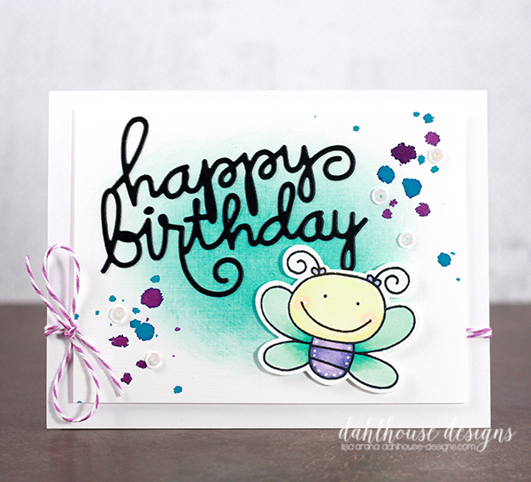 dahlhouse designs | 8.2.2015 birthday butterfly