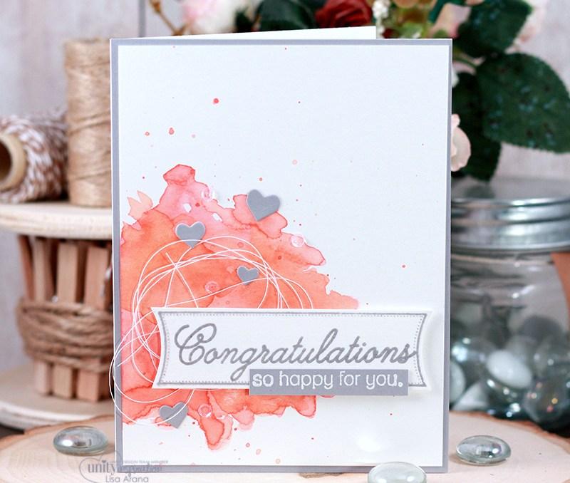 Watercolor Background Congrats Card + Video