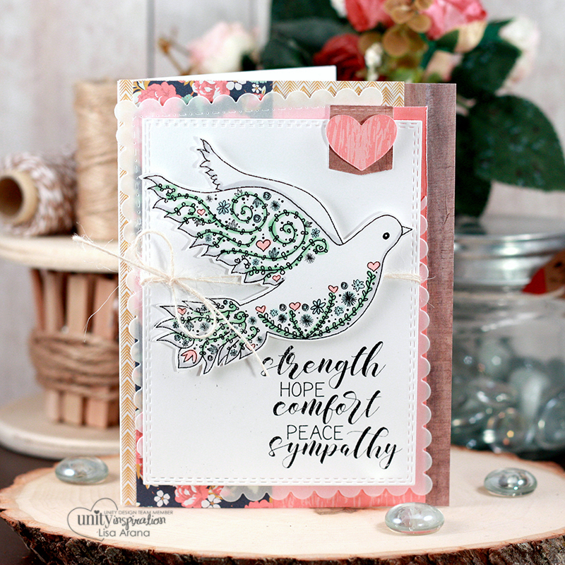 sharing a sympathy card with lots of layers without the bulk for an easy card using - Bulk Sympathy Cards