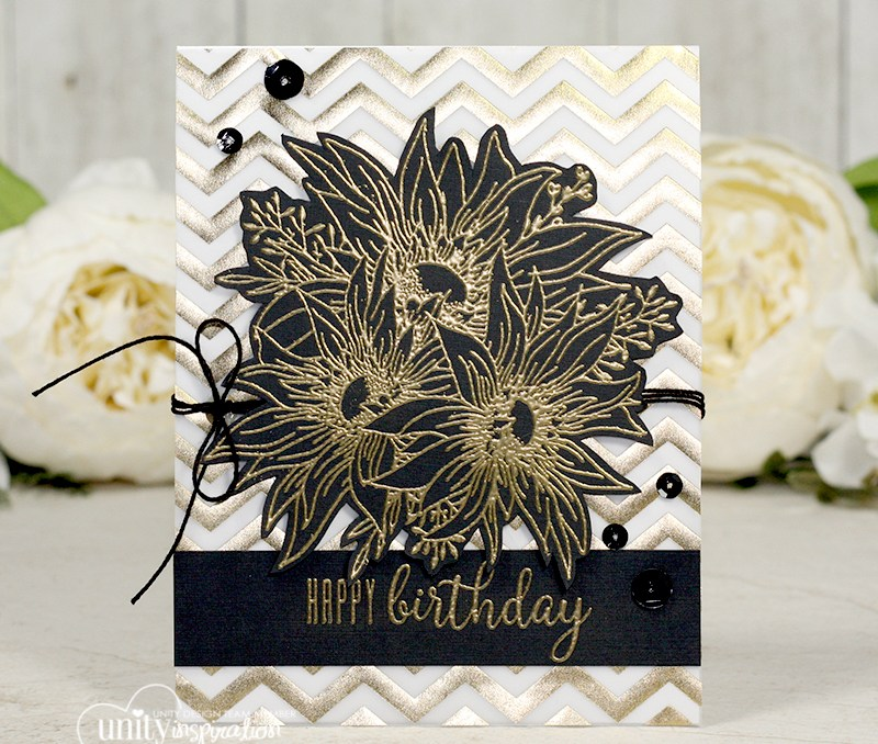 Easy and Elegant Golden Birthday Card + Video
