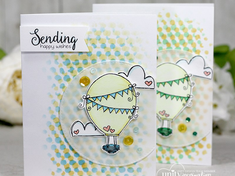 A Fun and Cute Card with a Halftone Background + Video