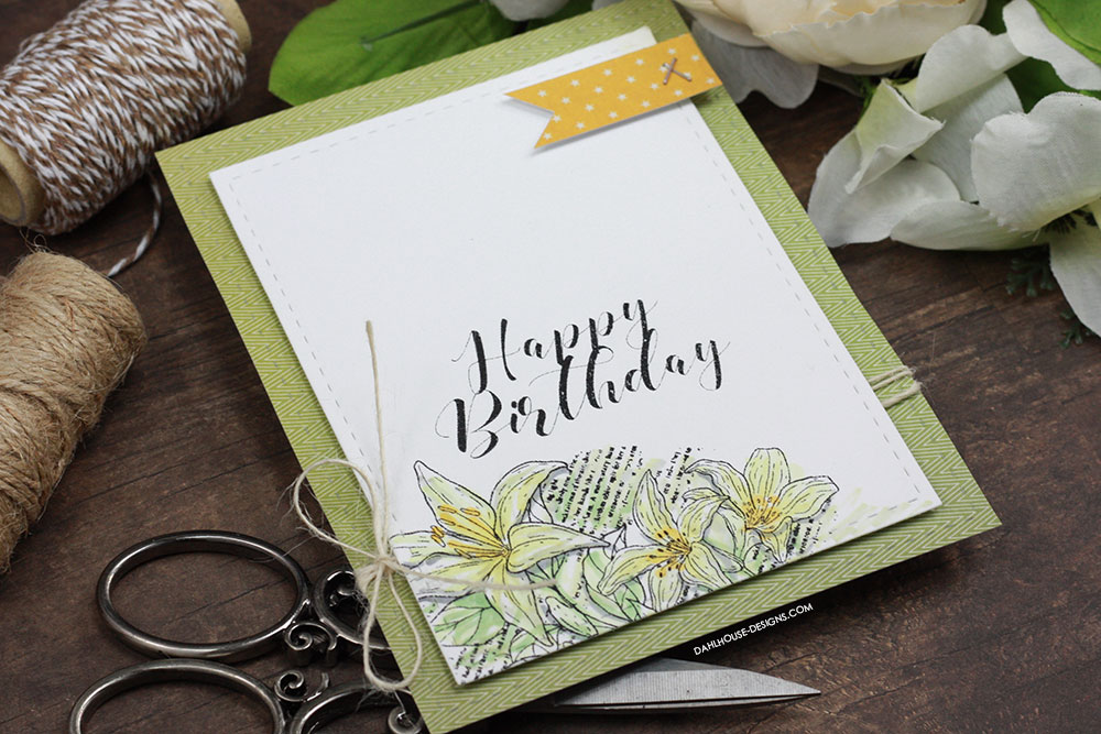 Sharing a simple card idea for simple stamping and coloring with copies. The images are from the You are my Always Unity Stamp Company stamp set. More inspiration on dahlhouse-designs.com. #cardmaking #cardmaker #cardmakingideas #cardinspiration #simplecards #cards #stamping #dahlhousedesigns #unitystampco #handmadecards #diecutting #diy #carddesign #cardcraft