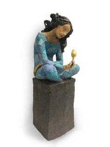 gullegget Ingun Dahlin keramikk skulptur