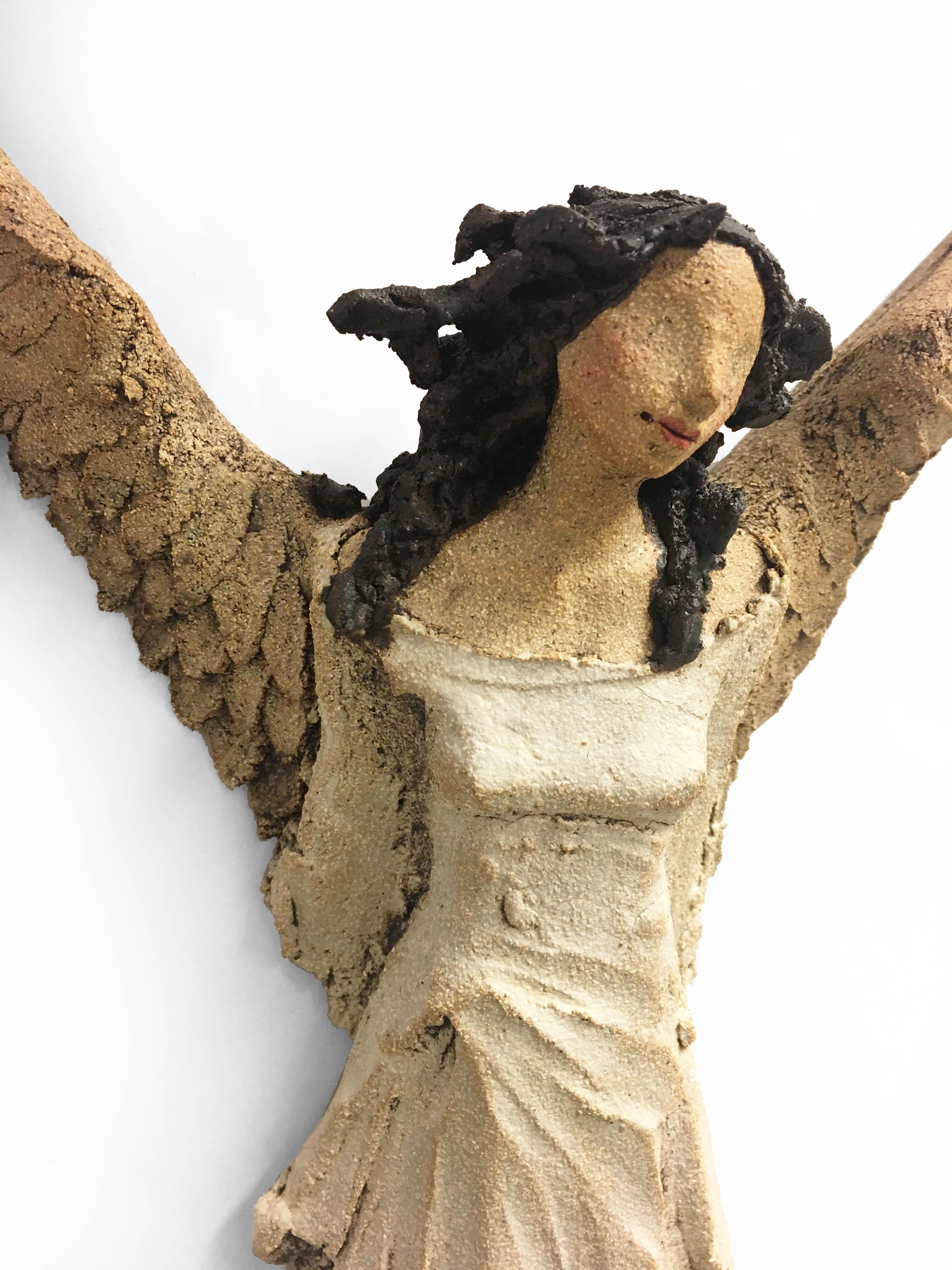 hvit engel Ingun Dahlin skulptur keramikk