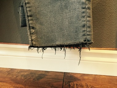 Frayed hems will be seen everywhere for spring.