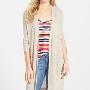 Long Beige Cardigan