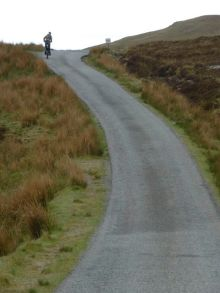 Uphill on the way to Loch Dhùghaill