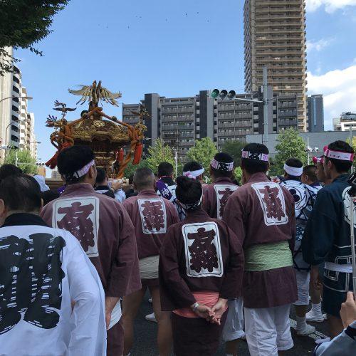北新宿-鎧神社-お神輿-お祭り