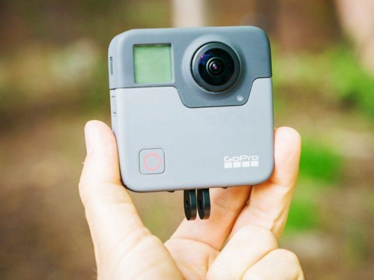 goproの新型360度撮影可能なfusionの外観