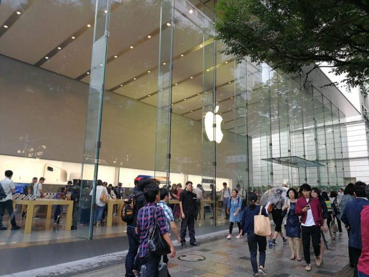 iphone8の発売日に表参道のアップルストアへ