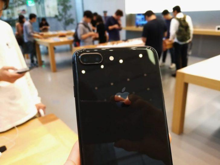 iphone8のスペースグレイモデルの実機写真