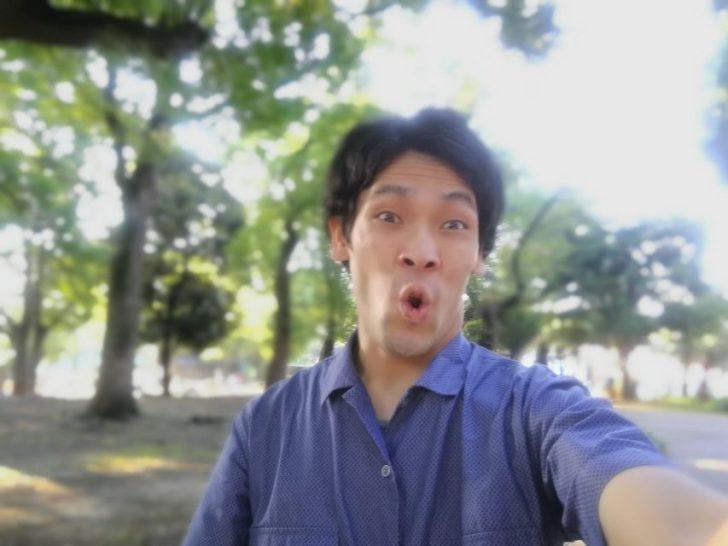 スタバ横の上野公園で休憩しているdaiking