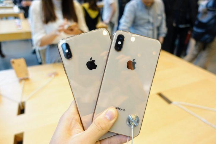 iPhone_xsとiPhone_xs_maxののゴールドモデルを比較