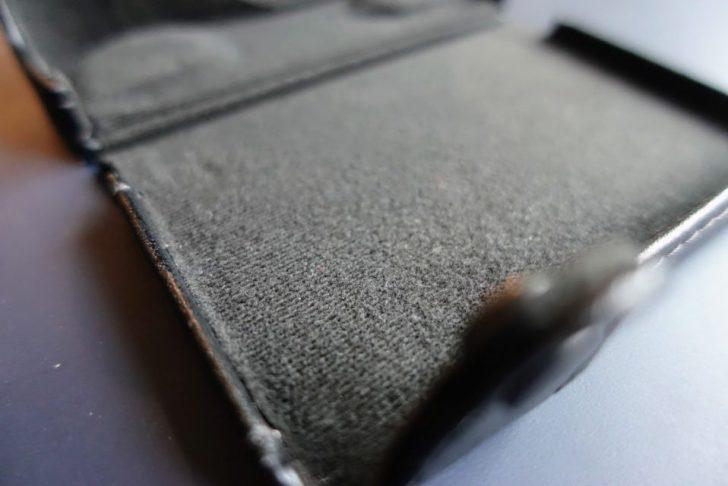 ジャケットケース ブラック LCJ-RXFの質感