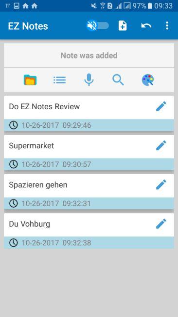 EZ Notes Screenshot