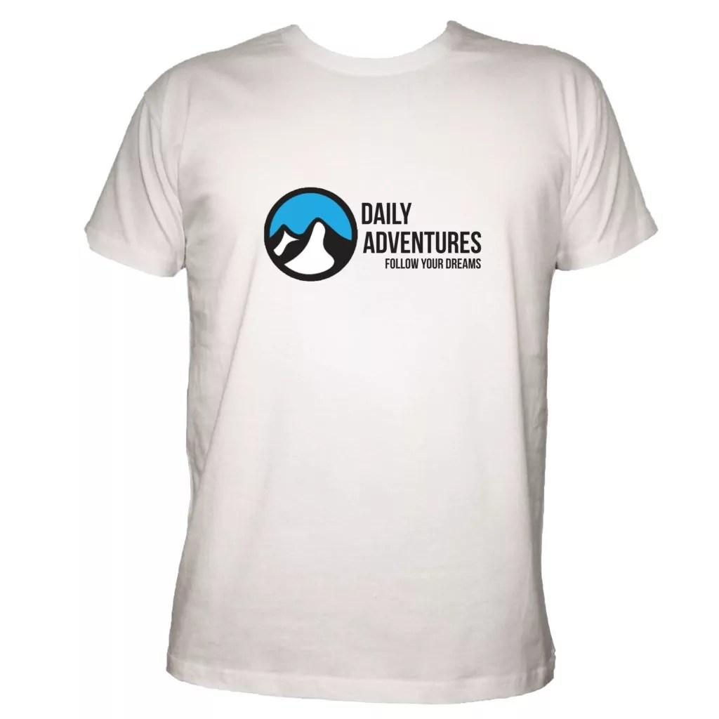 2e389d9deead Pánské tričko  Daily - bílá - Daily Adventures