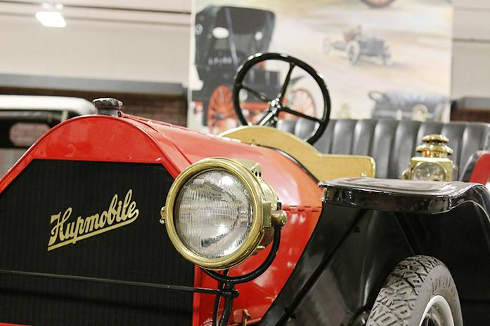 A 1910 Hupmobile is shown at the Antique Car Museum of Iowa on Tuesday March 8 2016. There is a bill being considered that would make front license plates ... & Iowa bill would remove front license plate requirement on some vehicles