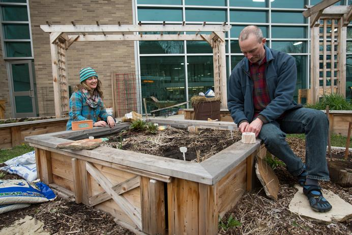Jen Kardos And Fred Meyer Prepare The Community Garden At The Robert A Lee  Community Recreation Center For Spring Planting On Tuesday April 4, 2017.