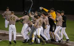 Clutch hitting, pitching lead Iowa in walk-off win