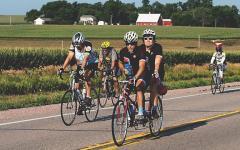 UI RAGBRAI team pedaling across Iowa to spread Hawkeye spirit