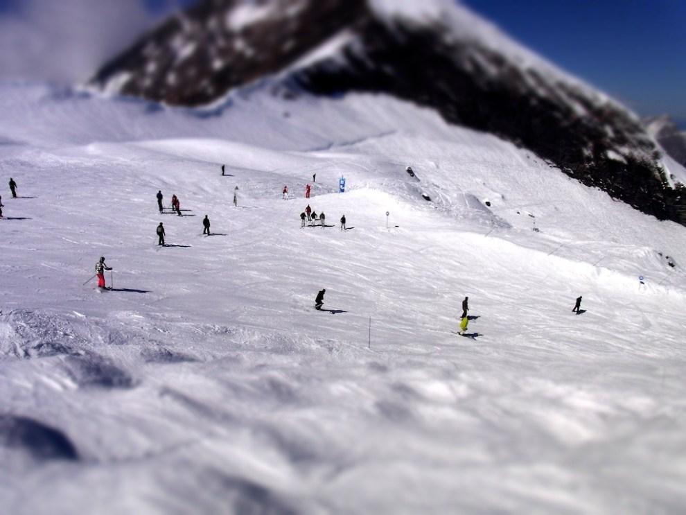 Skiers Diorama