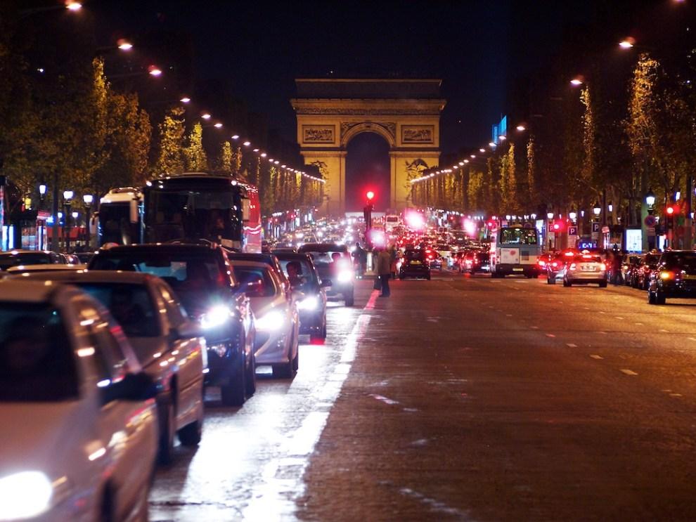 Busy Parisian Street