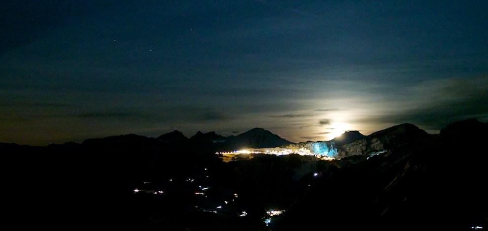 Moonrise Over Avoriaz