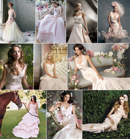 Blush Pink Wedding Gown Dresses