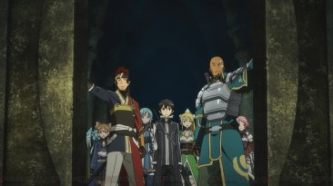 Sword Art Online Kirito and friends enter dungeon
