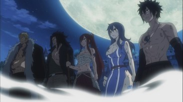 Gray Juvia Erza Gajeel and Laxus stand strong