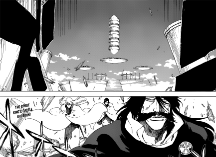 Yhwach Jugram Uryu arrives at Spirit King's Castle