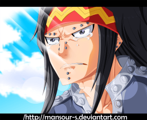 Fairy Tail 397 Gajeel Crying by mansour-s