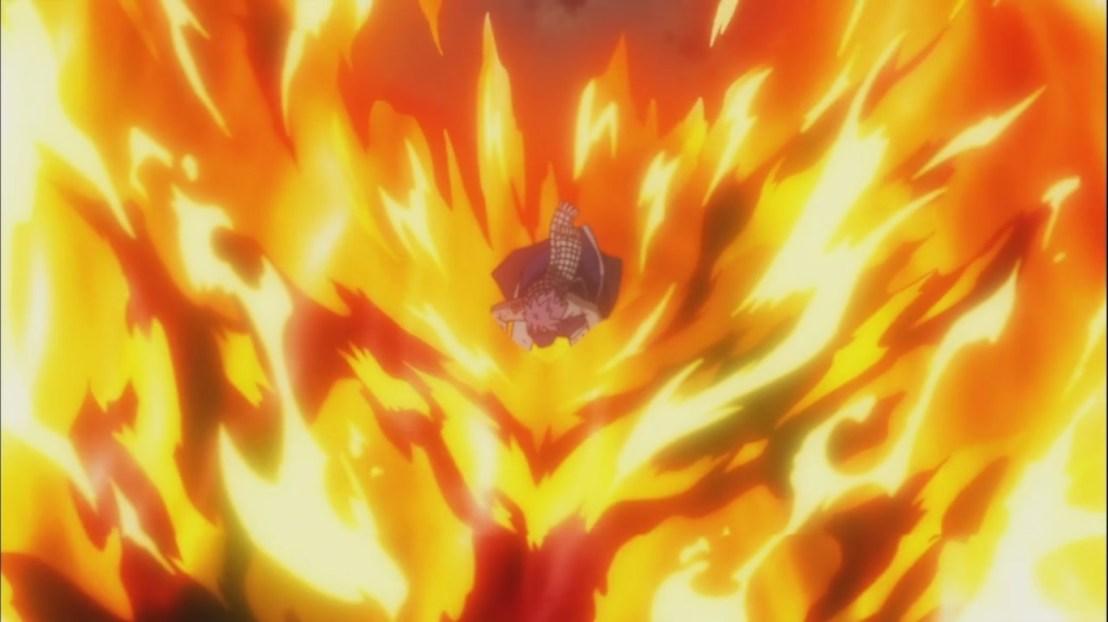 Natsu lands on Atlas Flame