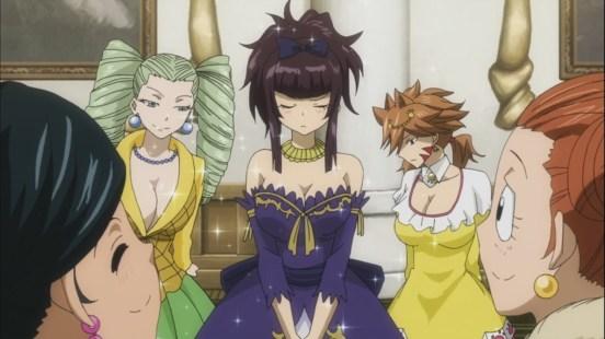 Kagura wearing dress