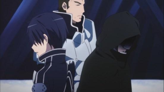 Kirito and Sternben Death Gun in Sword Art Online