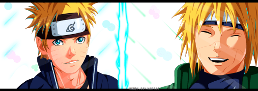 Naruto 691 Naruto and Minato by Uendy