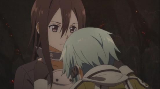 Sinon angry at Kirito