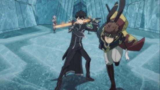 Kirito and friends fight