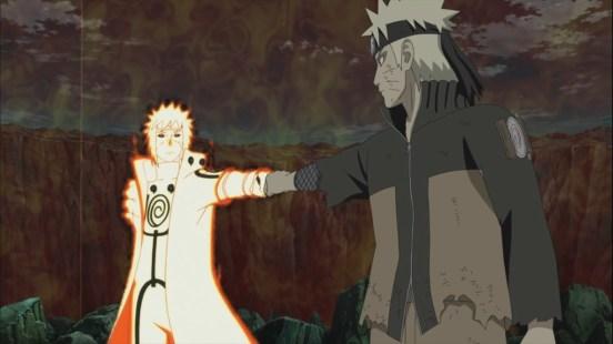 Minato Naruto fist bump