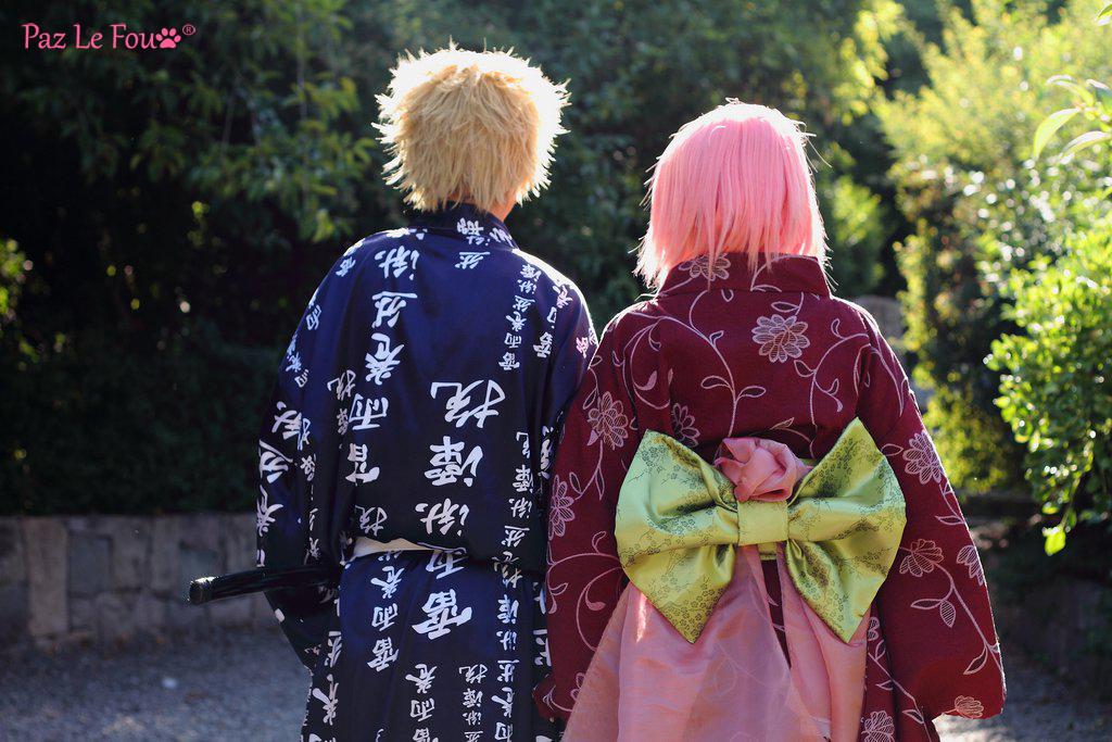 Naruto and Sakura Cosplay Back by Paz-Cosplay