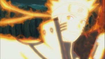 Naruto looks at Minato