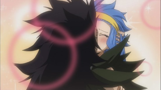 Gajeel and Levy kissing