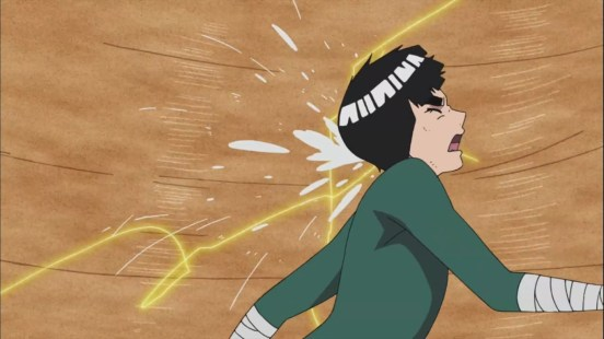 Rock Lee trapped in sandstorm