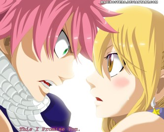 Fairy Tail 425 Natsu and Lucy by maxibostero